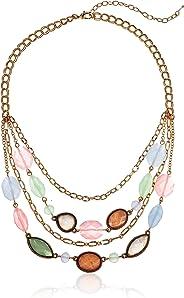 Napier Multirow Necklace for Women, Multi Tone