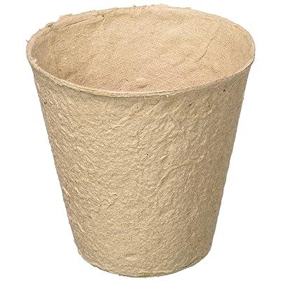 15 Pack 3-Inch Round Fiber Pots (Bonus Pack) # FR312B : Square Peat Pots : Garden & Outdoor