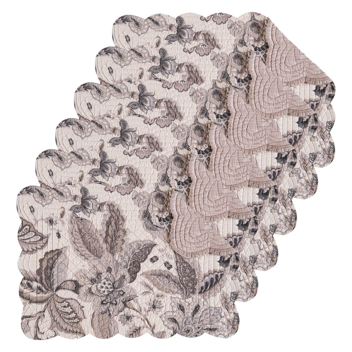 Aurelia Tabletop親 Rectangular Placemat Set of 6 グレー 862621861S6 Rectangular Placemat Set of 6  B075VNCSYW