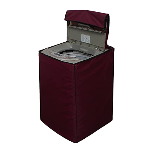 Glassiano Waterproof Washing Machine Cover for Fully Automatic Top Load LG T7567TEELH 6.5kg, Maroon Washing Machine Covers