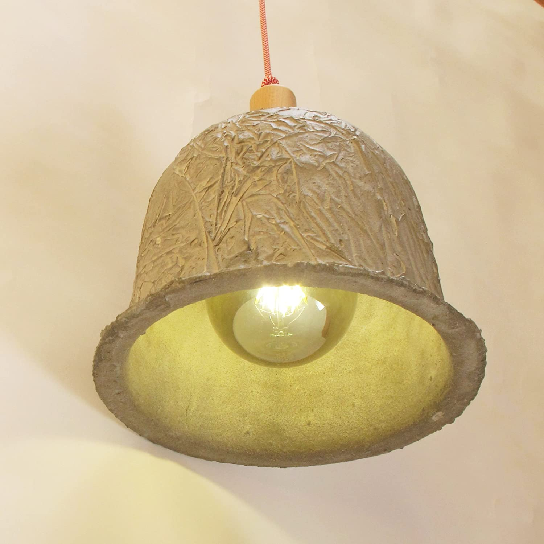 Lámpara de techo de cemento. Lámpara colgante de cemento ...