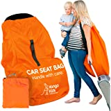 KangoKids Car Seat Travel Bag - Waterproof Carseat, Booster, Backpack Cover - Easy Carry Gate Check Bag for Airport…