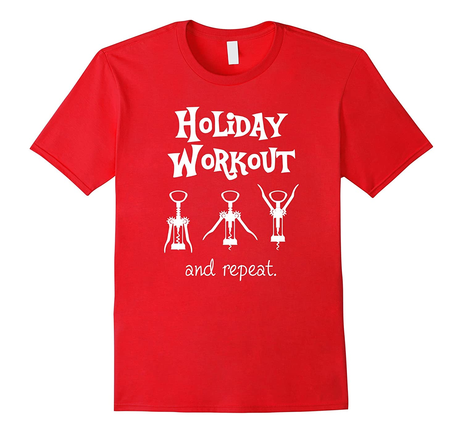 Holiday Workout Wine Shirt for Christmas-ANZ