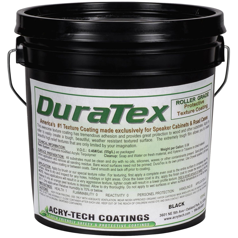 Acry-Tech DuraTex Black 1 Gallon Roller Grade Speaker Cabinet Coating Acry-Tech Coatings 4330170202