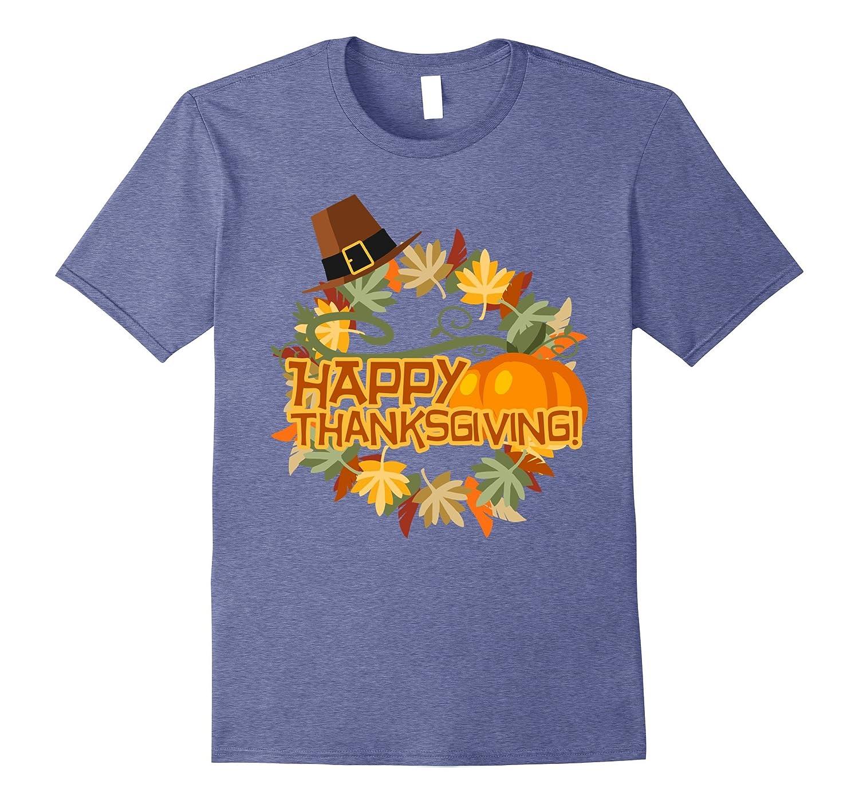 Thanksgiving Apparel T Shirts Pumpkin Turkey Shirt-BN