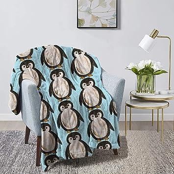 Lightweight Fleece Penguin Blanket