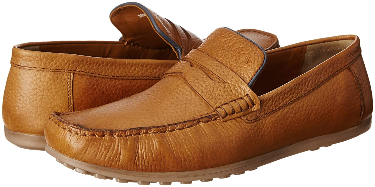 pretty cheap outlet boutique designer fashion Buy Arrow Men's Tan Leather Loafers and Moccasins - 9 UK/India (43 ...