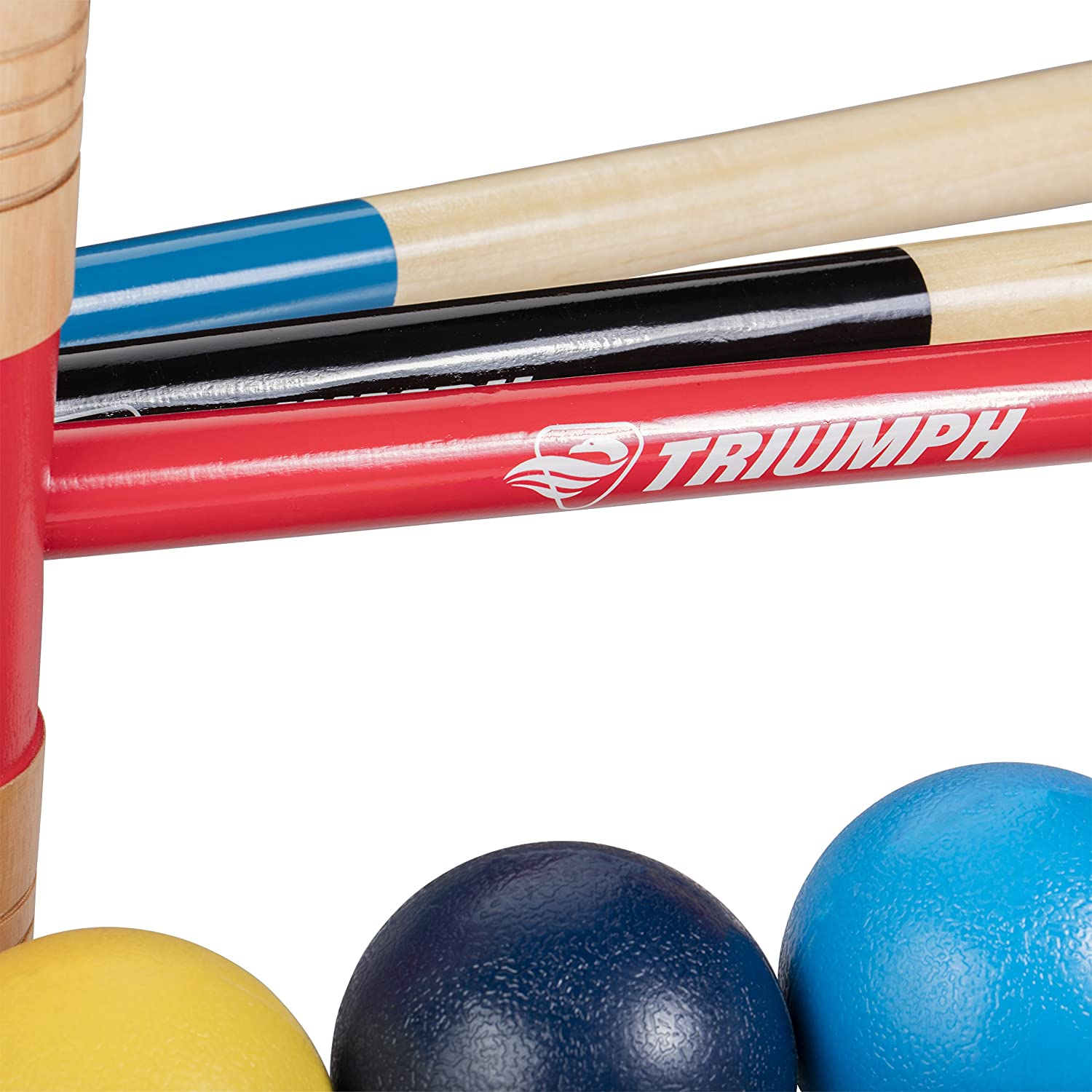 and Carry Bag Escalade Sports 35-7328-2 Balls Triumph 6-Player All Pro Backyard Croquet Set with 6 Wood Mallets