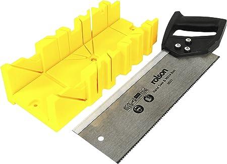 Rolson 58262 - Caja para sierra de tenón y inglete de plástico ...