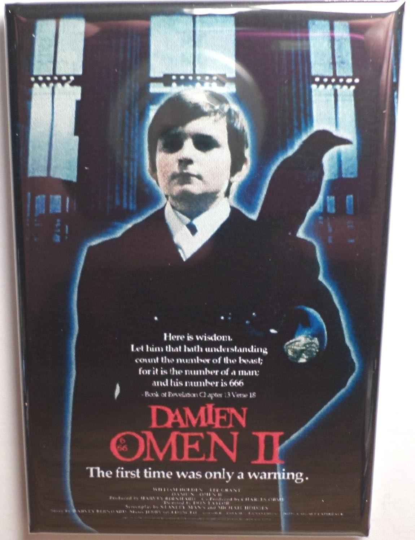 The Omen 2 Damien FRIDGE MAGNET movie poster