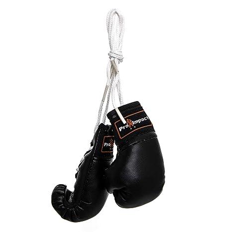 Pro impacto Mini guantes de boxeo (1 par Negro)