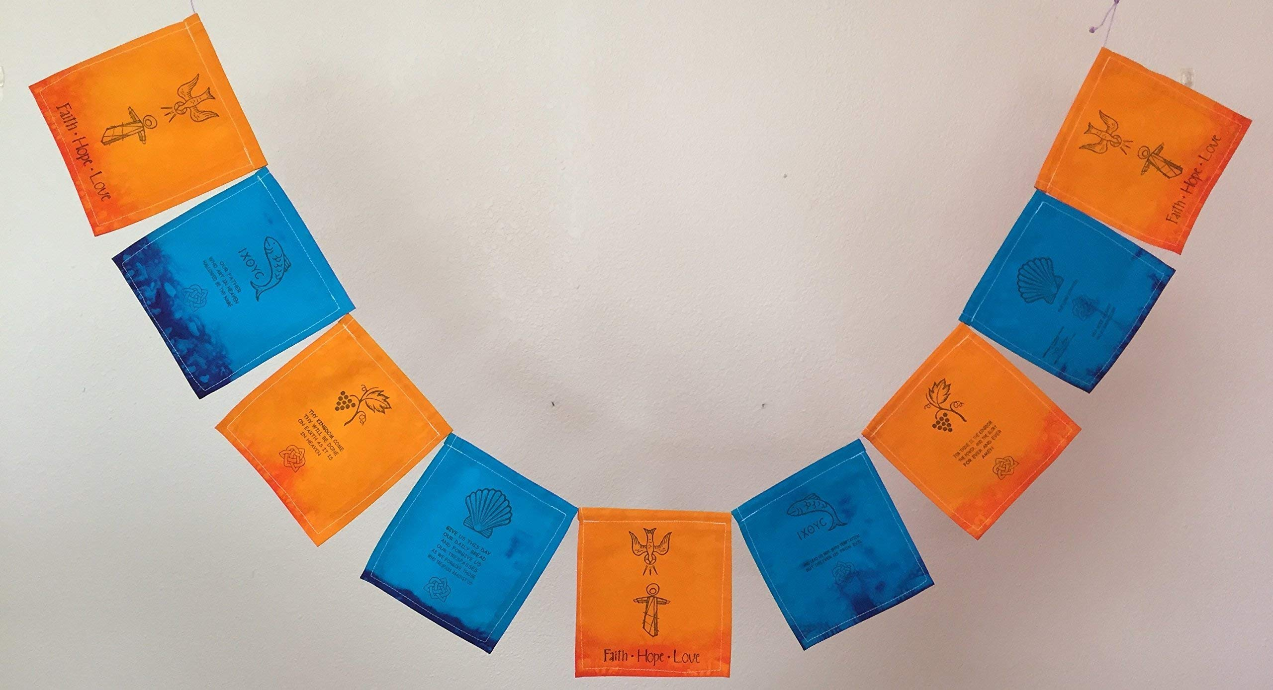 The Lord's Prayer Christian Prayer Flag. Matthew 6:9-13,''Our Father, Who art in heaven.''