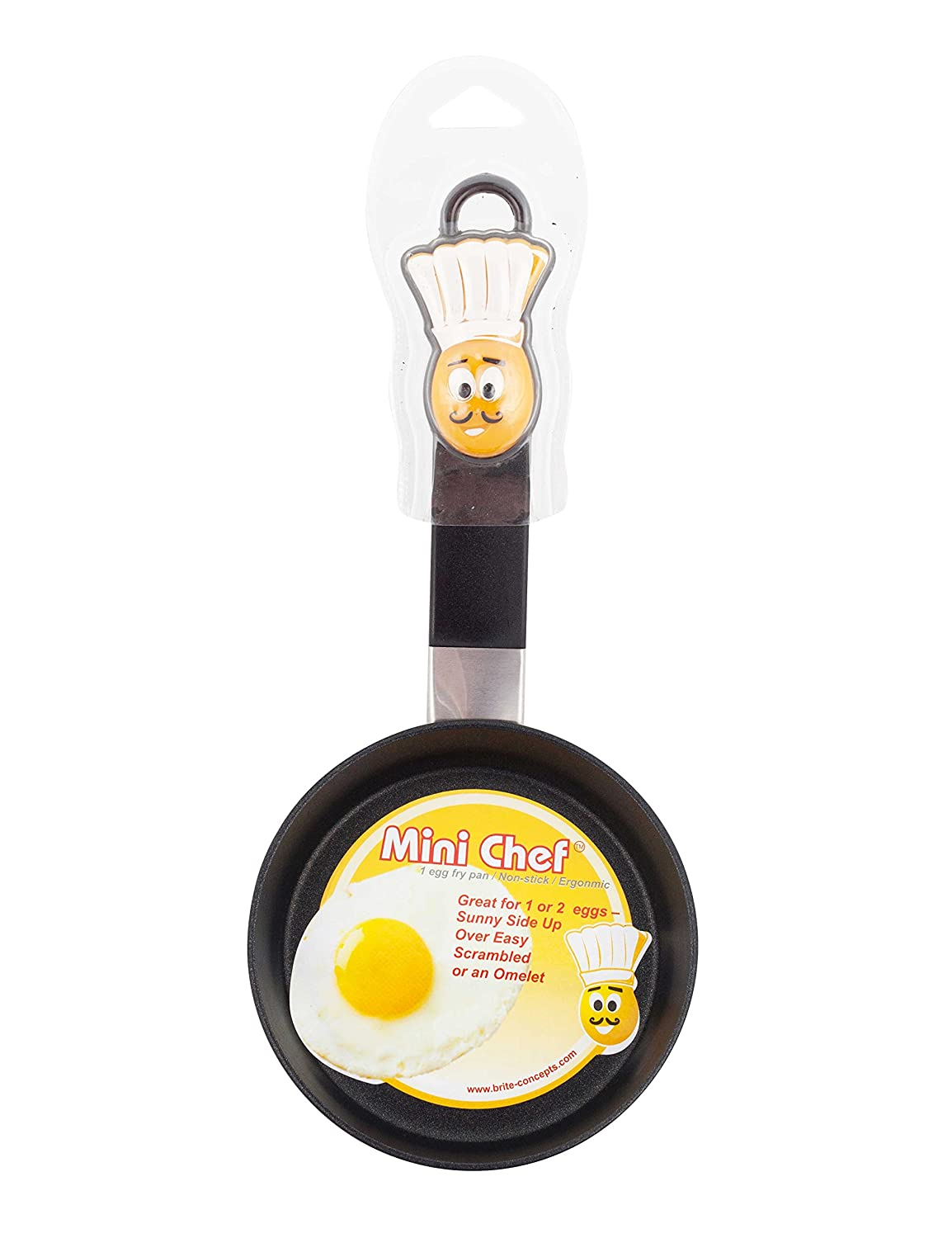 Brite Concepts, Mini Chef 1 Egg Fry Pan, 2-pack