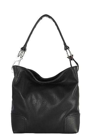 1aa2f9929e Amazon.com  Rimen   Co. Soft PU Leather Hobo Womens Purse Handbag HS ...