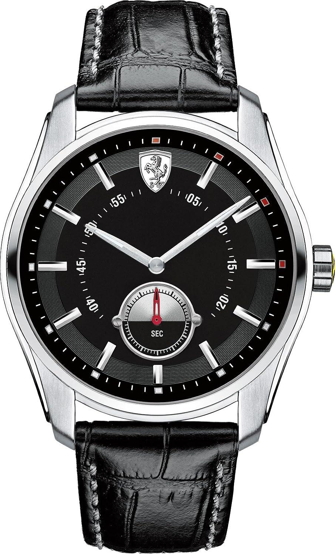 Ferrari Herren-Armbanduhr GTB_C Analog Quarz Leder 0830231