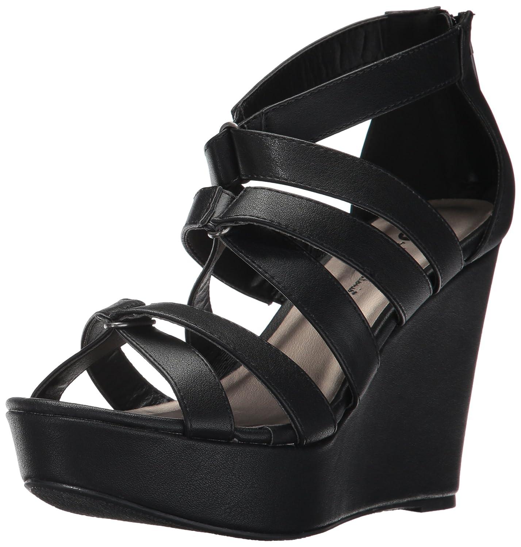 Michael Antonio Women's Rett Wedge Sandal B06Y5XPB5D 7 W US|Black