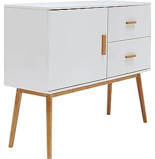 Sideboard design holz  Relaxdays Sideboard Retro, 60er Jahre Design, Holz, Metall ...