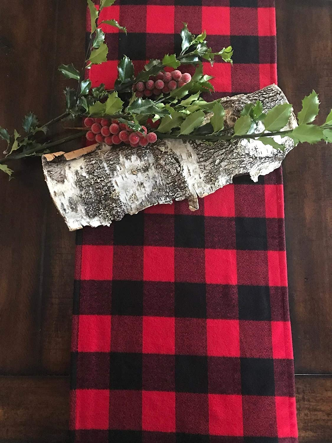 Buffalo red plaid table runner, Lumberjack party runner, Buffalo check Table runners