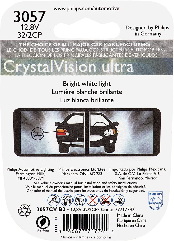 PHILIPS 7443CVB2 7443 CrystalVision Ultra Miniature Bulb 2 Pack