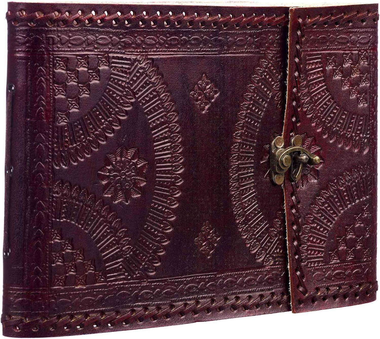Paper High - Álbum de fotos (260 x 185 cm, con cierre, piel estampada, tamaño mediano), color marrón