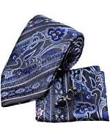 YAC1B02 Various of Colors Paisley Adults Day Gift Idea Silk Tie 3PT By Y&G