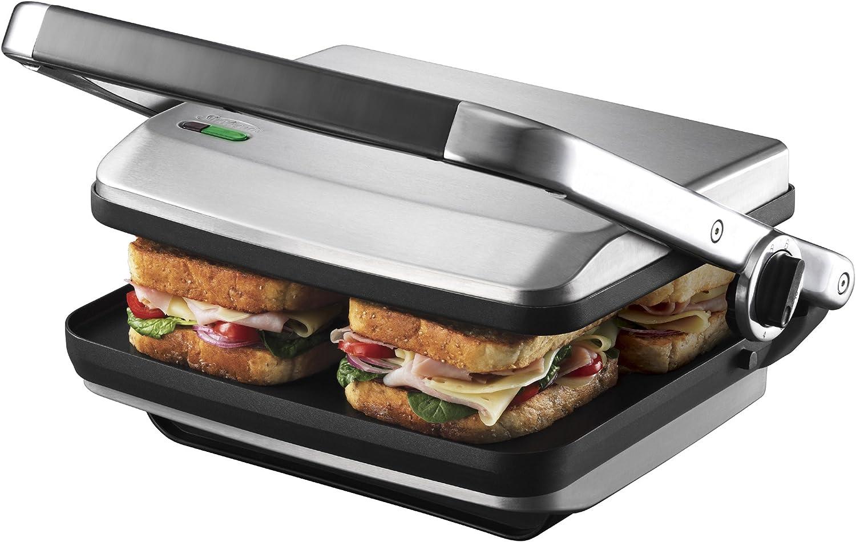 Sunbeam GR8450B Cafe Grill - Brushed 4 Slice Toaster