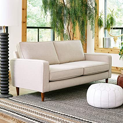 Sensational Sofab Camden Series 2 Seat Sofa Modern Living Room Couch With Sturdy Wood Frame Construction 73 W Beige Lamtechconsult Wood Chair Design Ideas Lamtechconsultcom