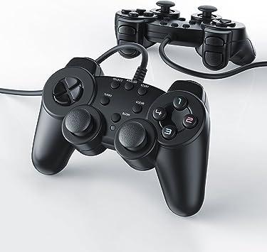 CSL - 2 x Gamepads Controlador de Mando para Playstation 2 PS2 con Doble vibración: Amazon.es: Electrónica