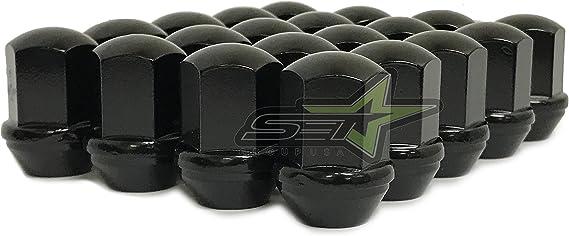 Pack of 4 9//16 Thread Size Gorilla Automotive 66197BDX Black Chrome Dodge Ram Durango 7//8 Hex Lug Nut