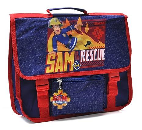 nouvelle arrivee 4d487 f4314 Sam Le Pompier - Petit Cartable 31 cm - Bleu - Collection to The Rescue -  pour Maternelles Petites Sections