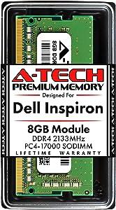 A-Tech 8GB RAM for Dell Inspiron 3064, 3264, 3275, 3277, 3464, 3475, 3477, 7459 All-in-One | DDR4 2133MHz SODIMM PC4-17000 260-Pin Non-ECC Unbuffered Memory Upgrade Module