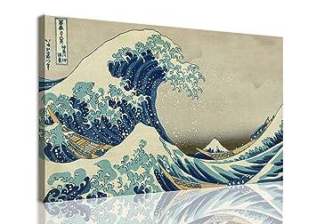 Mywalldesign quadro moderno tela canvas hokusai la grande onda