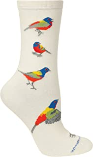 product image for Wheel House Designs Adult Painted Bunting Crew Style Socks 9-11 Natural