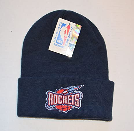 64e14b651e4 closeout nba houston rockets logo cuff beanie blue bc9a6 05308