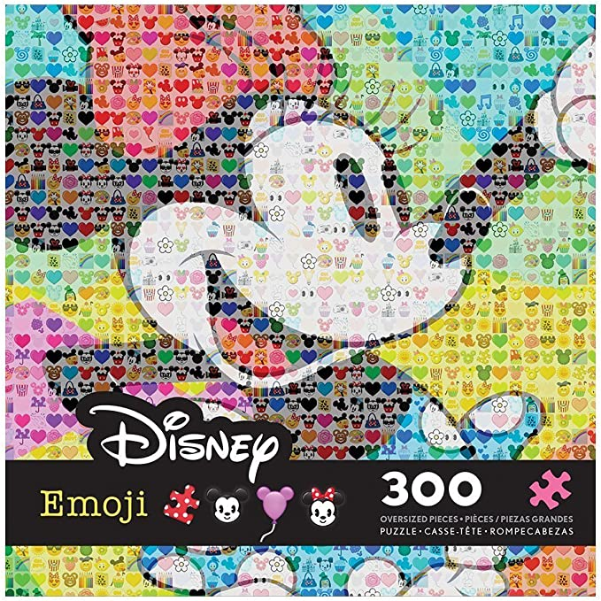 """New in Box Ceaco Disney EMOJI 300 Piece 19/""""x19/"""" Puzzle with Poster Mickey Mouse"""