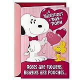 Hallmark Peanuts Valentine's Day Sound Card for Kids (Snoopy Hug)