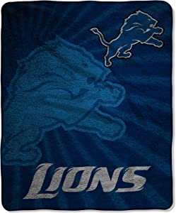 "Officially Licensed NFL ""Strobe"" Sherpa on Sherpa Throw Blanket, Multi Color, 50"" x 60"""