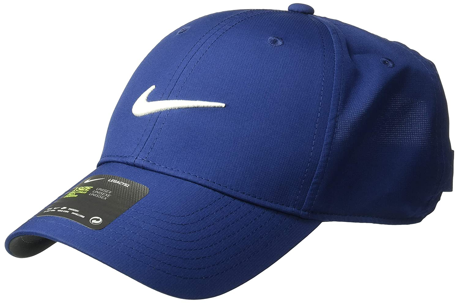 2b010734 Amazon.com: Nike Unisex Legacy Golf Cap, Adjustable & Lightweight Hat for  Men and Women, Blue Void/Anthracite/Sail: Sports & Outdoors