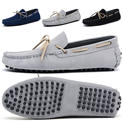 0eb2cf8df47 BINSHUN Mens Slip On Shoes Loafers Suede Driving Penny Loafer Moccasins  Dress Flats Boat Deck Shoe