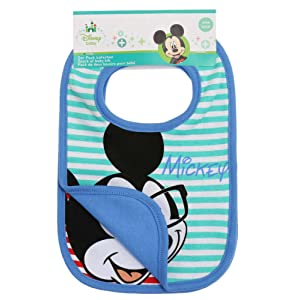 Disney Mickey Babies Bavoirs : lot de 2 2016 Collection - bleu