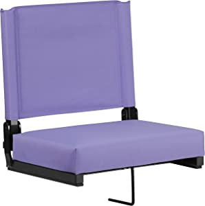 Flash Furniture Grandstand Comfort Seats by Flash with Ultra-Padded Seat in Purple