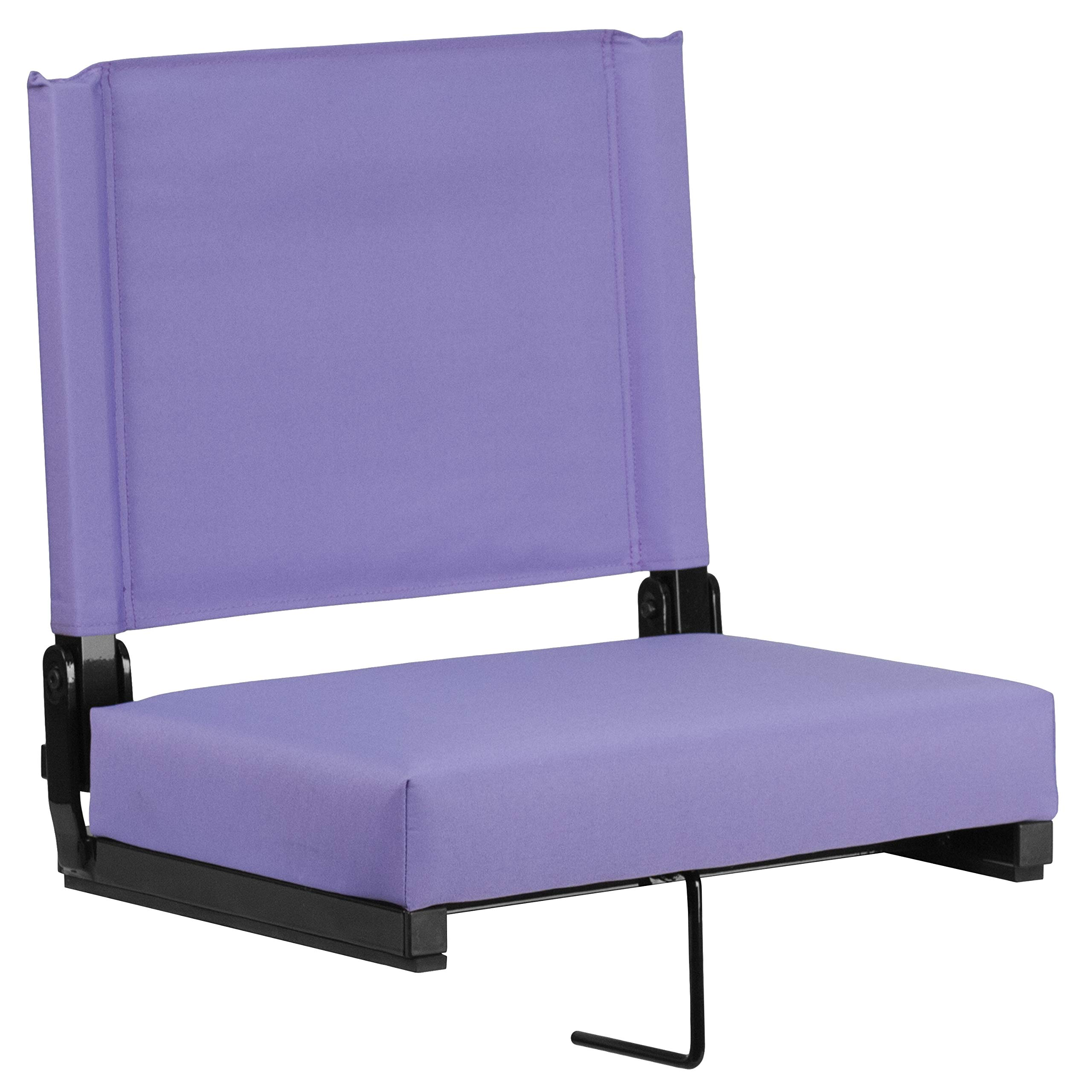 Flash Furniture Grandstand Comfort Seats by Flash with Ultra-Padded Seat in Purple by Flash Furniture