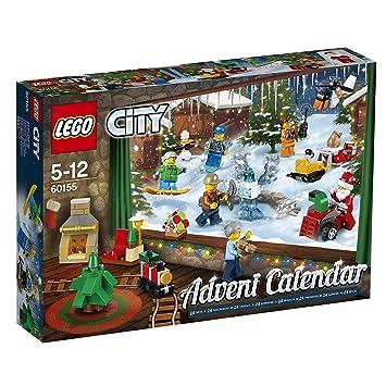 Calendrier City.Lego 60155 Lego City Jeu De Construction Le Calendrier De L Avent Lego City