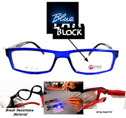 2d30d9b37e0 ... High Quality lenses with anti-glare coating full protection against  computer   mobile   flurocent light harmful rays - with new look branded  rectangular ...