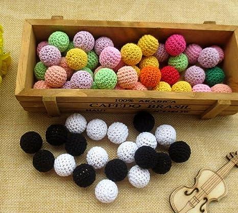 welliestr 30 piezas/lot cuentas redondas de Crochet ...