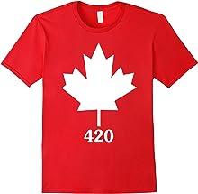 Funny Canada Canadian Maple Leaf 420 T-Shirt
