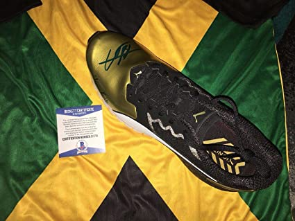 Image Unavailable. Image not available for. Color  Usain Bolt Signed ... c9a750656