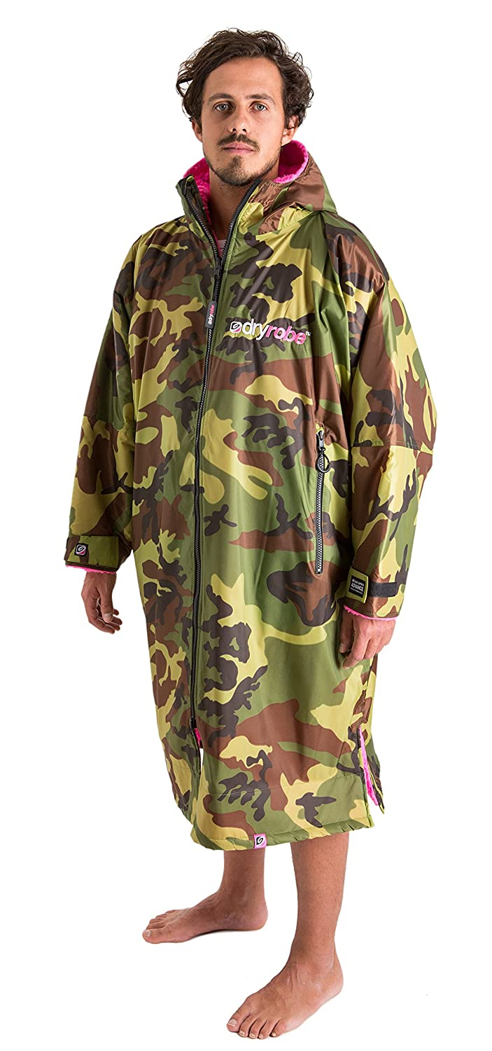 Long Sleeve Change Poncho L Camo // Pink dryrobe Advance Adult Changing Robe