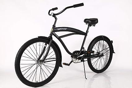 con Estructura de Acero de 26 con suspensi/ón Bicicleta de una Velocidad de una Velocidad con Frenos de monta/ña y neum/áticos Anchos de Apoyo Beach Cruiser Bike Coral para Hombres