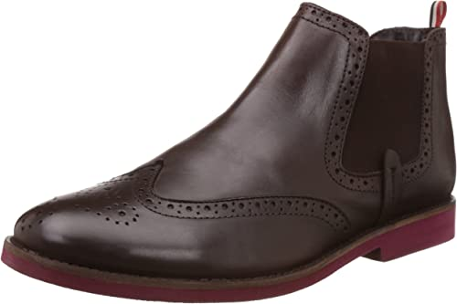 BATA Men's Affleck Leather Boots Men's Boots at amazon